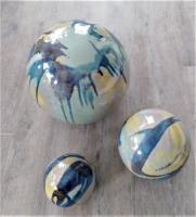 ensemble de poteries de jardin en grès émaillé, fabrication artisanale française