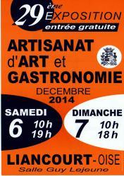 Affiche salon artisanal de liancourt 2014, Oise Picardie