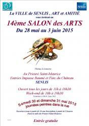 Affiche salon des arts 28 mai au 3 juin 2015 senlis