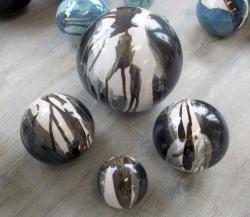 Boules de décoration extérieur en grès émaillé