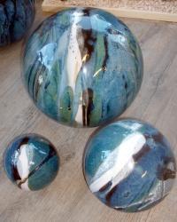 ensemble de boules en grès pour la décoration extérieure