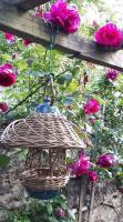 mangeoire à oiseaux poterie et vannerie osier autoclave