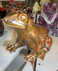 Popie, la grenouille tuteur marron