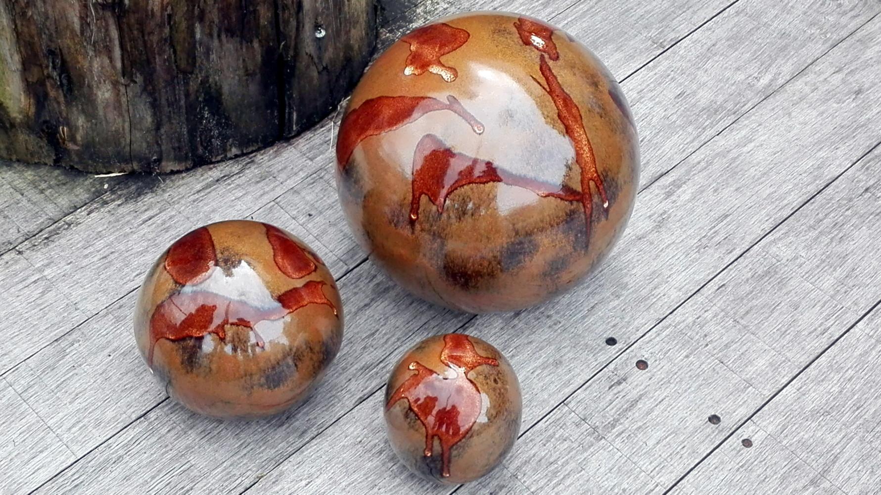Boules en grès pour la décoration extérieure, poteries de jardin