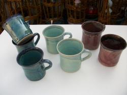 mugs en argile : grès tourné émaillé
