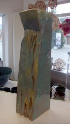Vase en grès émaillé carré