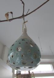 goutte décoration de noël en grès émaillé
